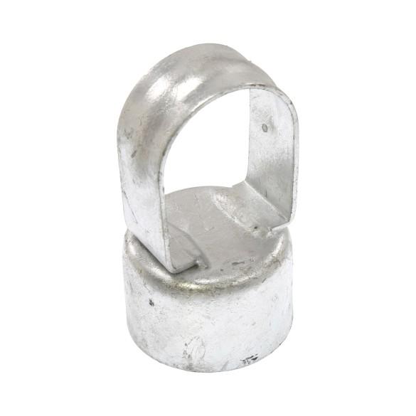 """Galvanized Pressed Steel 2"""" (1 7/8"""" OD) x 1 5/8"""" (1 5/8"""" OD) Top Rail Eye Top Loop Caps"""