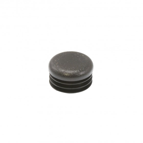 """Poly Plug Cap For Steel Pipe Fits 1 3/8"""" OD Pipe or 1.125"""" ID Black"""