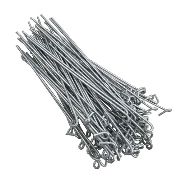 "8 1/4'' Steel Fence Ties 9ga for Chain Link (Bag of 100) Fits 2 1/2"" Posts"
