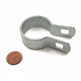 "Chain Link 1 3/8"" Brace Band [12 Gauge] - Rail End Band (Galvanized Steel)"