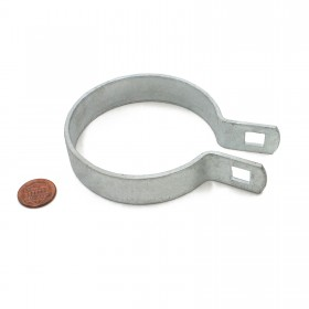 "Chain Link 3"" [2 7/8"" OD] Brace Band [12 Gauge] - Rail End Band (Galvanized Steel)"
