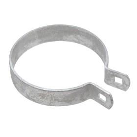 "Chain Link 4"" Heavy Brace Band [11 Gauge] - Rail End Band (Galvanized Steel)"