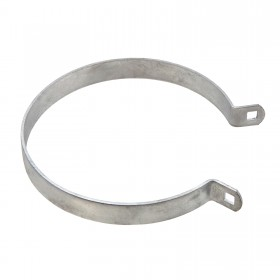"Chain Link 6 5/8"" Heavy Brace Band [11 Gauge] - Rail End Band (Galvanized Steel)"