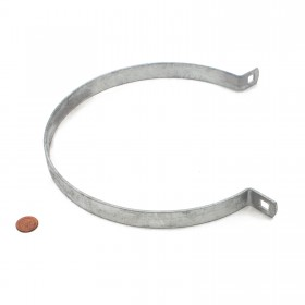 "Chain Link 6 5/8"" Brace Band [12 Gauge] - Rail End Band (Galvanized Steel)"