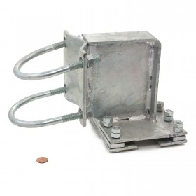 """Chain Link 4"""" Overhead Beam Hanger Assembly (Pressed Steel)"""