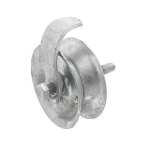 "Chain Link 1 5/8"" Gate Pipe Track Safety Roller w/ 5"" Wheel (Galvanized Steel)"