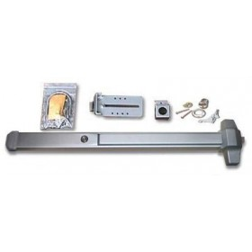 "Chain Link DAC Deluxe 36"" Detex Exit Bar Kit w/ Adjustable Silver Mounting Plate (Stainless Steel)"