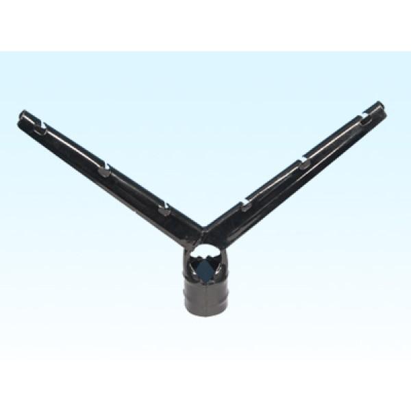 """3"""" X 1 5/8"""" Black Barb Wire Arm 6-Strand"""