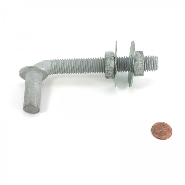 "5/8"" x 4 1/2"" J-Bolt with 2 Nuts (Galvanized)"