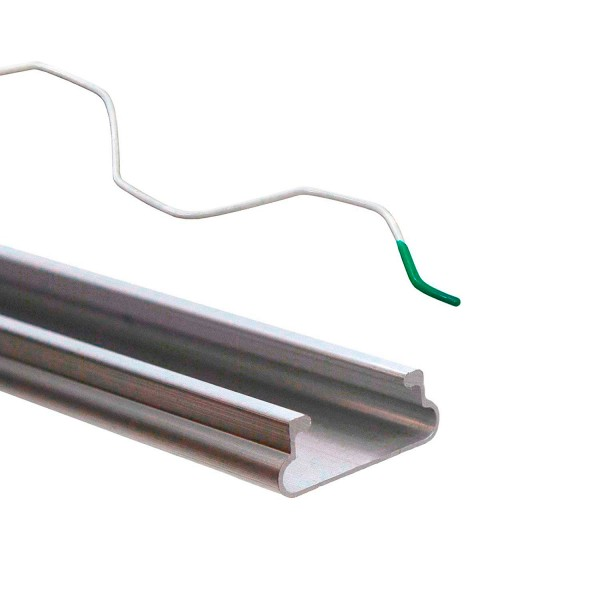 """Jiggly Greenhouse® Wire Kit (Aluminum Channel and 1 x 6' 6"""" Steel Wire)"""