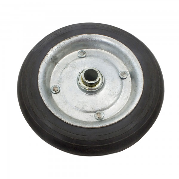 "8"" Solid Rubber Carrier Wheel (Black)"