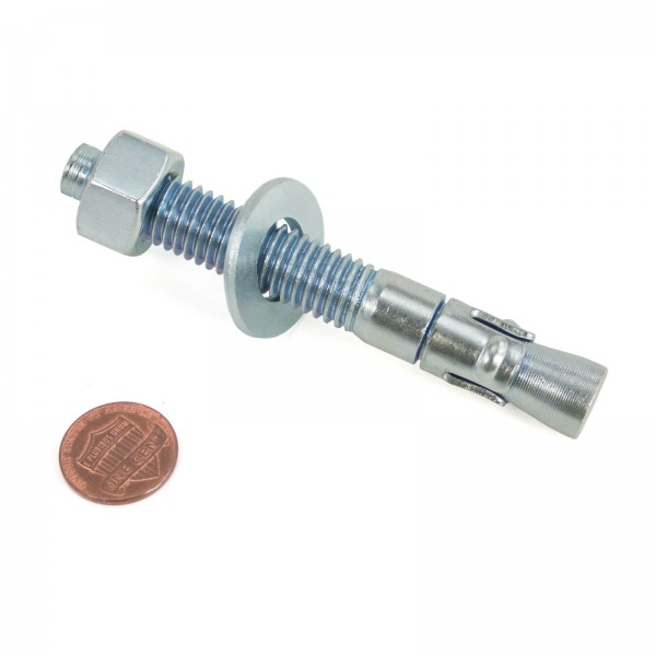 """1/2"""" x 3 3/4"""" Wedge Anchor Bolt - Penny shown for scale"""