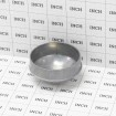 """3"""" Die Cast Aluminum Dome External Round Post Caps (Fits 2 7/8"""" OD) - Grid Shown For Scale"""