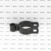 "2"" x 5/8"" Black Female Gate Frame Hinge (Fits 1 7/8"" OD) Pressed Steel - Grid Shown For Scale"
