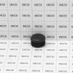 """Poly Plug Cap For Steel Pipe Fits 1 3/8"""" OD Pipe or 1.125"""" ID Black (Grid Shown For Scale)"""
