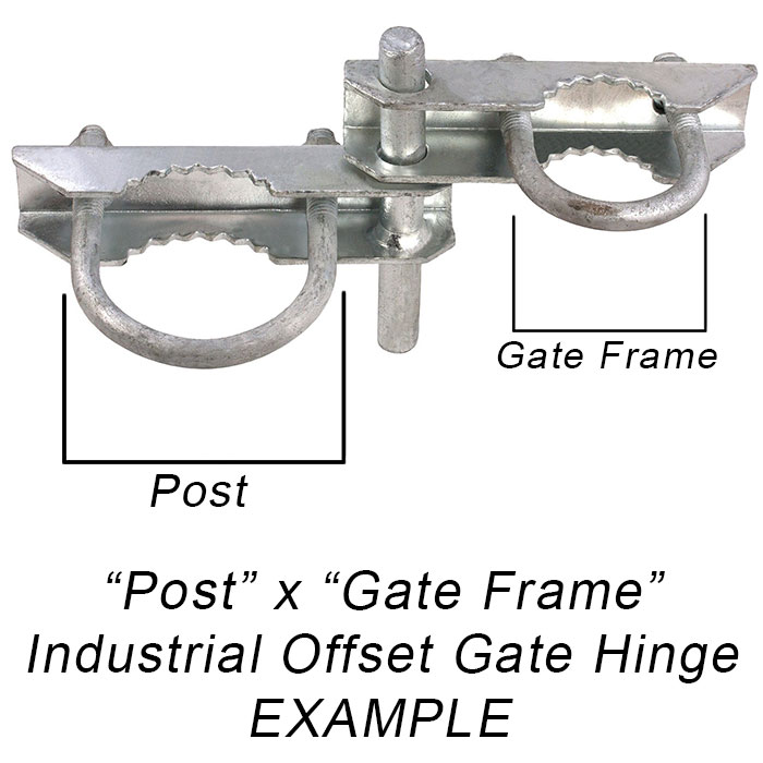 Industrial Offset Gate Hinge Diagram